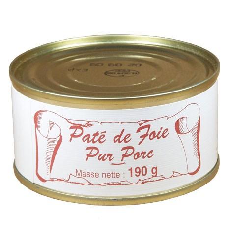 Pâté de foie pur porc 190 gr